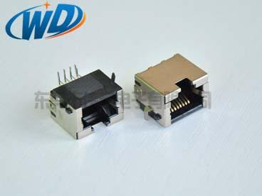 沉板插件型 RJ45网络插座 8P8C带屏蔽壳 超短款板下高1.80mm