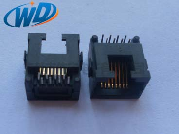沉板插件超小个mini RJ45连接器 板下高度2.15mm