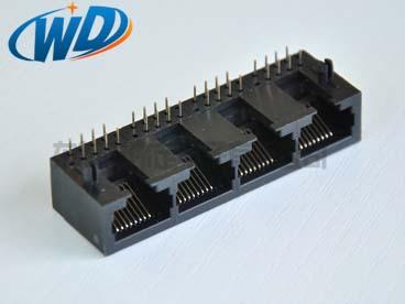 5622系列 1X4 全塑四口联体 RJ45 网络插座.