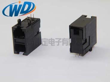 59全塑 2X1双层 RJ11 6P6C 6P4C电话接口