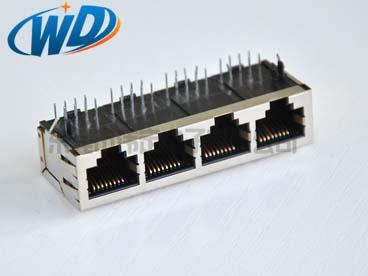 59系列 1X4四口联体全包屏蔽壳 路由器端口