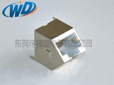 45度插入 网络接口带屏蔽铁壳 8P8C