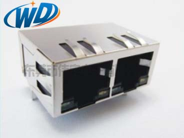 1X2 双口连体开口朝下带弹片屏蔽壳100M 1000M可线路可选公司