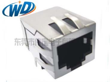 单胞以太网带POE自供电功能RJ45网络插座带弹片 百兆千兆可选
