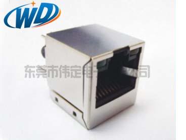 180度顶部插入型 RJ45带网络变压器带LED灯 百兆千兆可选