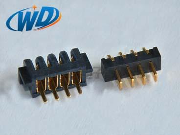 2.50mm 间距 4PIN 电池端子刀片式公母配套对插