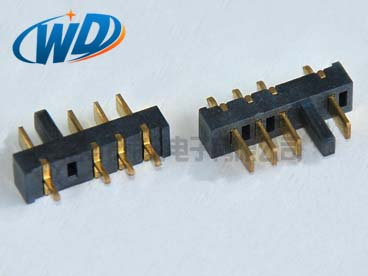 2.50mm间距  立式4PIN刀片型电池接口带防呆位规格