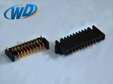 2.0mm间距沉板型电池座连接器9PIN 公母配套对插