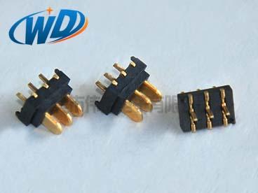 广东电池座工厂 2.0mm间距 3PIN超小型立式电池公座带定位柱