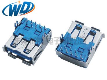 东莞工厂 高品质 短款USB 3.0连接器 AF插头 DIP L=14.50mm