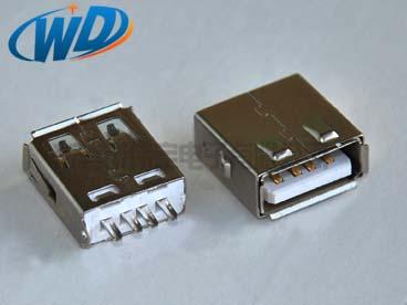 焊线型 USB接口 带外面铁壳