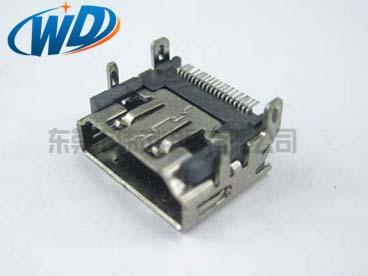 19PIN 贴 HDMI 高清接口 SMT连接器