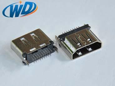 北京立式 180 垂直插 HDMI 插座