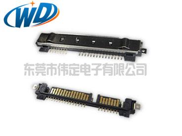 22PIN SATA 公头带屏蔽壳固定焊片订购