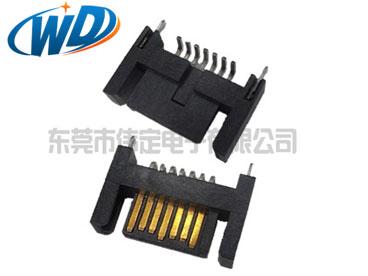180度贴片7PIN HDD连接器SATA SMT接口双臂公头10.40mm