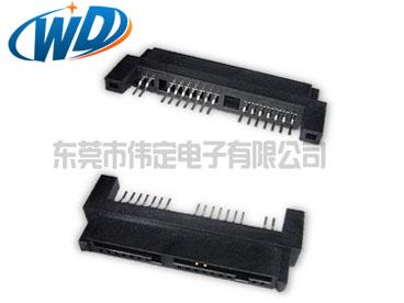 沉板贴片 mirco  sata 7+7+2 16PIN硬盘连接器SMT母座