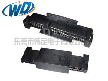 泰科贴片7+15 22PIN 硬盘连接器SATA TYCO SMT母头高5.85mm