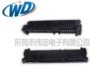 贴片7+15 22PIN HDD连接器SATA   SMT母头高5.25mm