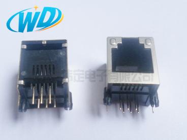 带屏蔽壳RJ11 6P6C 6P4C电话接口