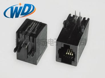 RJ11电话插座 4P4C无耳 4针接口长20.60mm