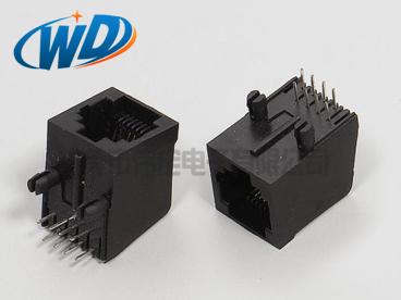 8P8C RJ45连接器 8针网络插座  网口长20.60mm