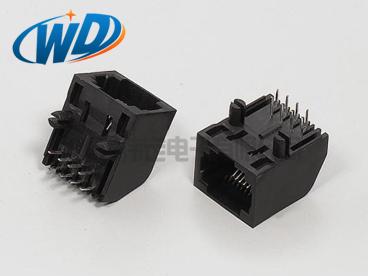 8P8C无耳RJ45连接器  网口插座