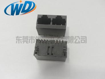 1X2  立式网络插座全塑 180度垂直插入RJ45