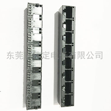 52 1x8垂直插入rj45  8联体网络接插件