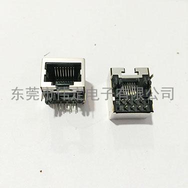 单口屏蔽RJ45 8P8C网络接口