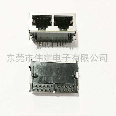 59 1X2双联体 RJ45 8P8C带壳