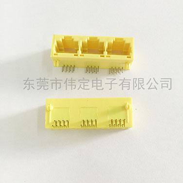 5631 1X3 RJ45全塑黄色 8P8C 三口网络接口
