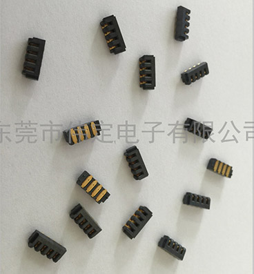 2.0mm 间距刀片4PIN电池座连接器母座