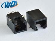 全贴片RJ12 6P6C 电话接口 SMT耐高温 高11.50mm