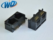 1X2 双联网络插座RJ45 8P8C带耳
