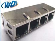 1X4 以太网集成网络变压器滤波器RJ45 100M 1000M线路