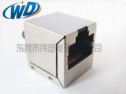 180度立式网口内置网络变压器100M 1000M