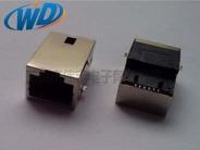 沉板贴片型RJ45带百兆网络变压器  网络插座