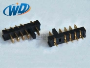 2.50mm 间距180度电池座 5PIN带防呆柱