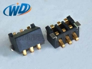 2.50 PITCH  侧压弹片型电池接触片 3PIN 塑高5.0mm