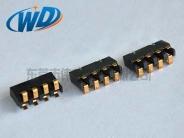 2.50间距 立式4PIN弹片电池座连接器