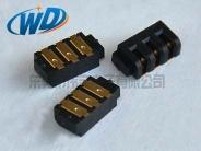2.0mm间距 超小个3PIN全贴片刀片型电池座连接器 SMT母座