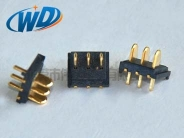 东莞电池座 2.0mm 间距3PIN超薄电池接触片 塑高1.55mm