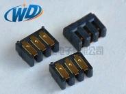 东莞电池座厂家 2.0mm 间距3PIN铡刀式电池座接口  狗4运动数码电池