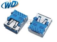 南京广东厂家直销 高品质USB 3.0接口 AF  A TYPE 平四角