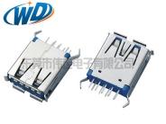 天津东莞工厂直销 USB 3.0 插口AF 180度 卷边 H=14.50mm