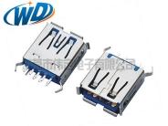 南京短体 USB连接器 3.0插口 AF 180度插入  超短款长13.70mm卷边弯脚