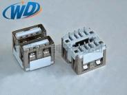 2.0双层USB接口 AF母座180度 中间空短体连接器长10.0mm