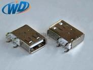 USB连接器 AF母座 90度侧插长体