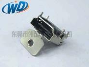 19 PIN 带螺丝固定孔HDMI 高清接口 母座连接器