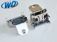 19PIN 带螺蛳固定孔 高请HDMI 连接器